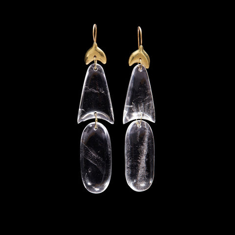 Small Arrowhead Crystal Earring