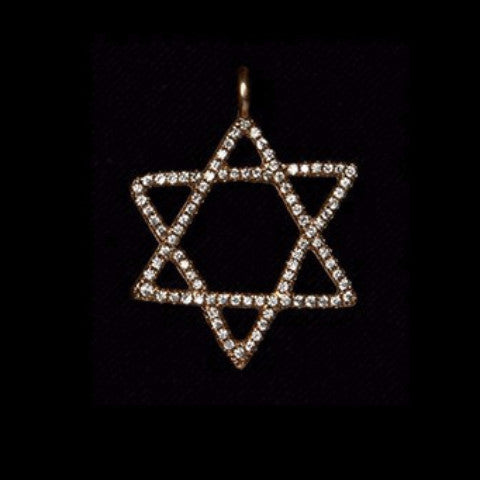 Diamond Pave Star of David