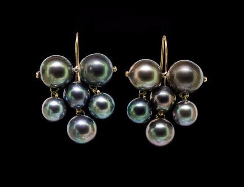 Tahitian Pearl Edwardian Earrings