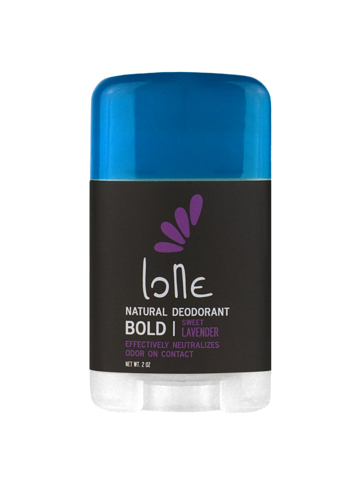 Bold Lavender Natural Deodorant. Baking soda free. Clean, non-toxic ingredients keep you smelling fresh all day!