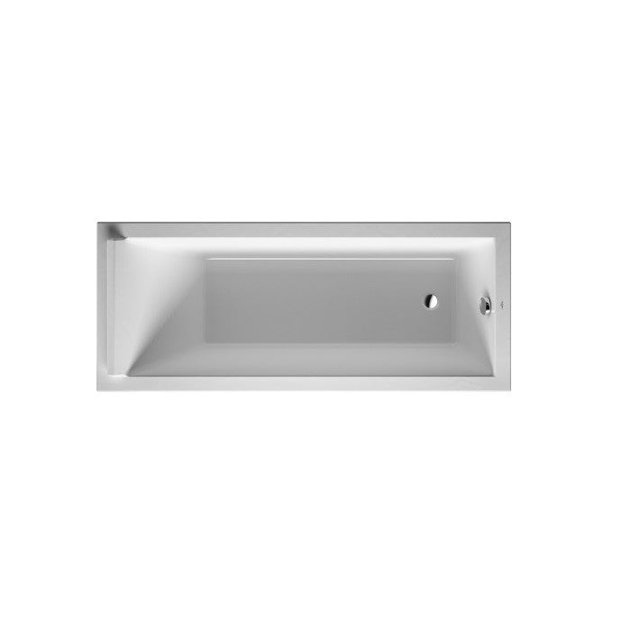 Duravit Starck 3 Single-Ended Inset Bath With Support Feet