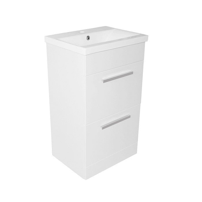 Pace 500 Floor Mounted Two Drawer Unit & Basin - Indesign