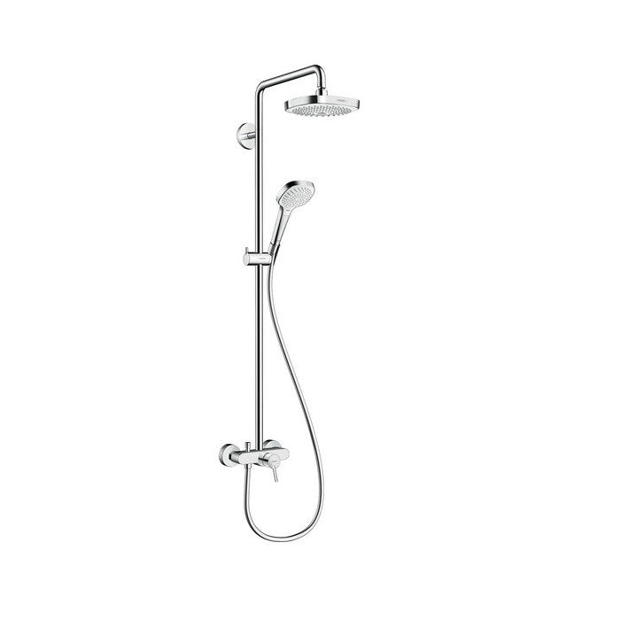 Hansgrohe Croma Select E 180 2 Jet Shower Set With Single Lever Mixer