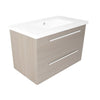 Pace 800 Wall Mounted Two Drawer Unit & Basin - Indesign