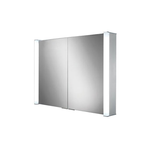 Vector Double Door Illuminated Aluminium Mirror Cabinet
