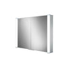 Vector Double Door Illuminated Aluminium Mirror Cabinet - Indesign