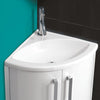 Solo Corner Furniture Unit With Basin - 610 mm