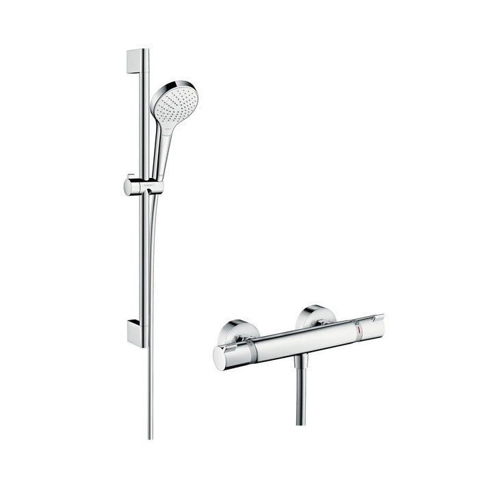 Hansgrohe Croma Select S Vario Combi Shower Set | Shower Sets – Indesign