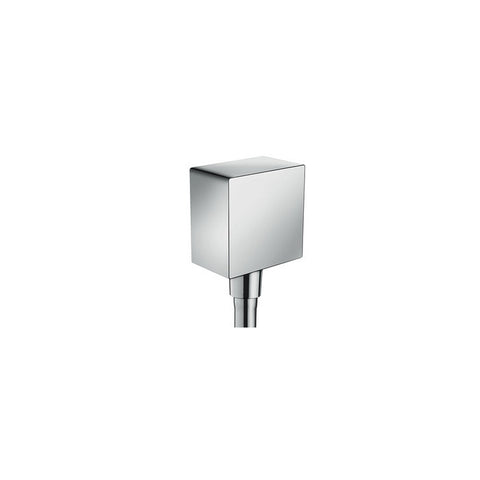 Hansgrohe FixFit Square Wall Outlet with non-return valve