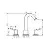 Hansgrohe Talis 3 Piece Bath Mixer With Pin Handles