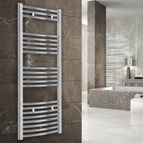 Lyra Curved Heated Towel Rail