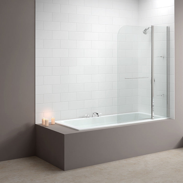 Merlyn MB3 2 Panel Curved Bath Screen - Indesign