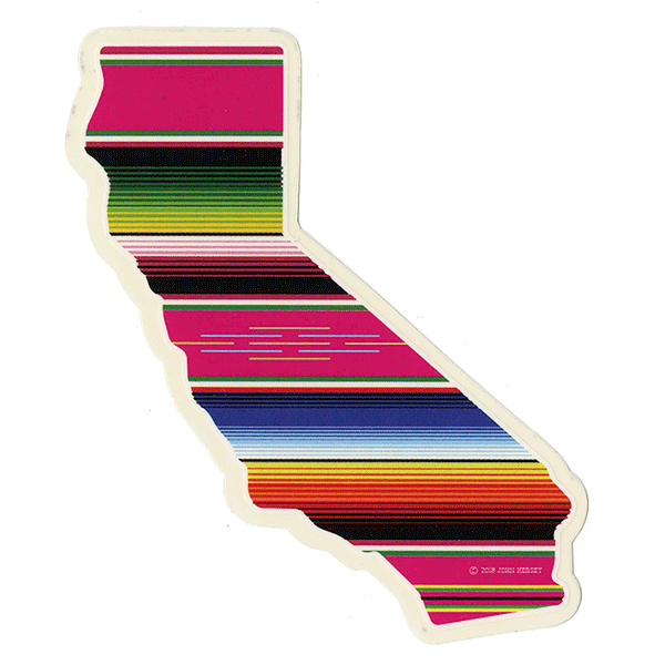 California Serape Sticker Large