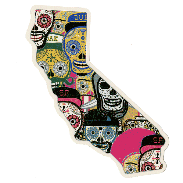 California Todos Sticker