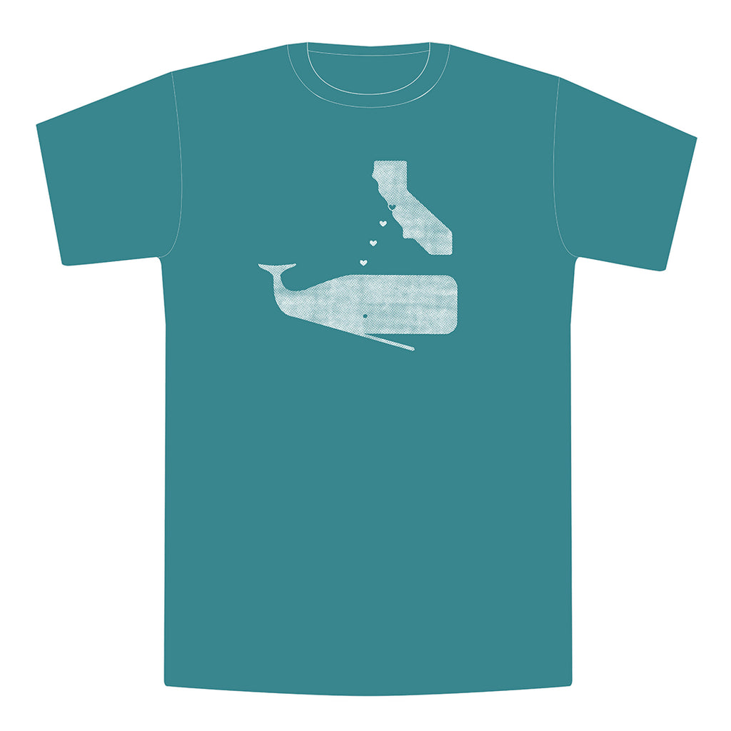 Whales Love California Mens/Unisex Tee