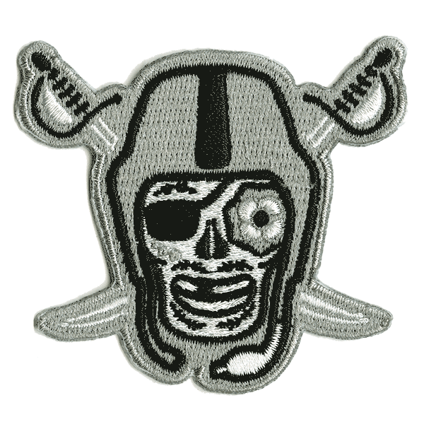 Black and Silver Embroidered Patch