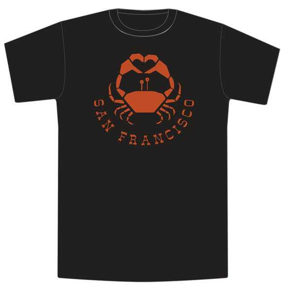Crabs Love San Francisco Mens/Unisex Tee