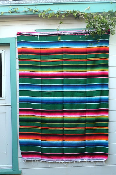 THE SERAPE BLANKET: Blue Green Magenta