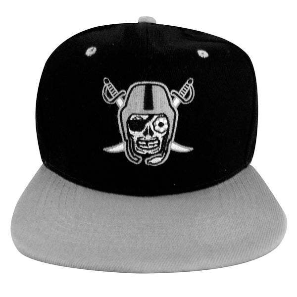 Black and Silver Baseball Cap