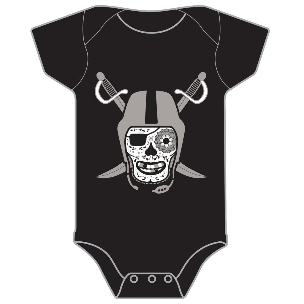 Black and Silver Baby Onesie