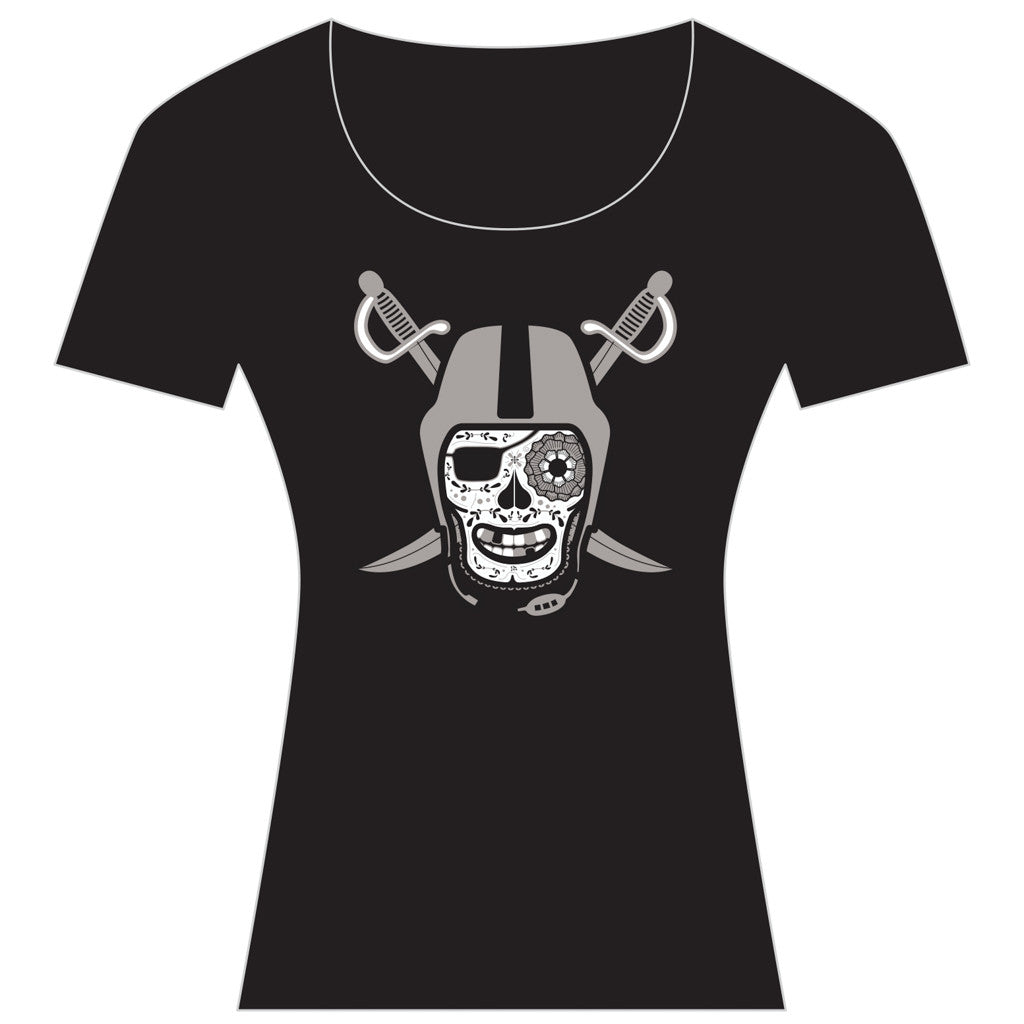 Black and Silver Women's  Scoop Tee