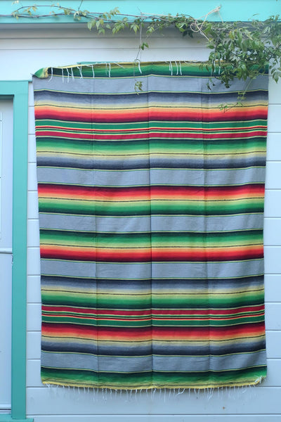 THE SERAPE BLANKET: Black Grey and Green