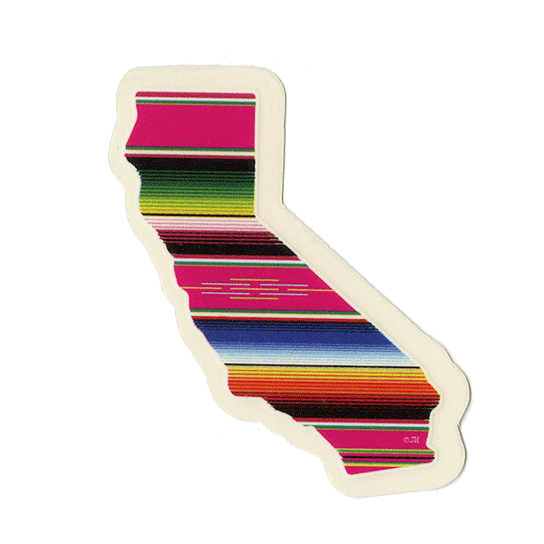 California Serape Sticker Mini