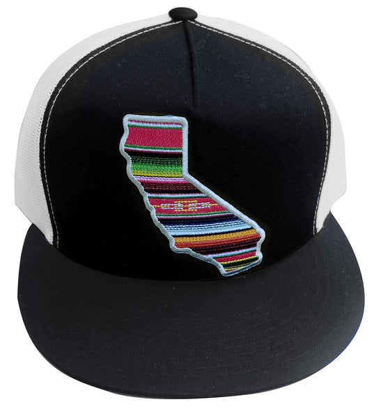 California Serape Flatbrim Baseball Hat Black