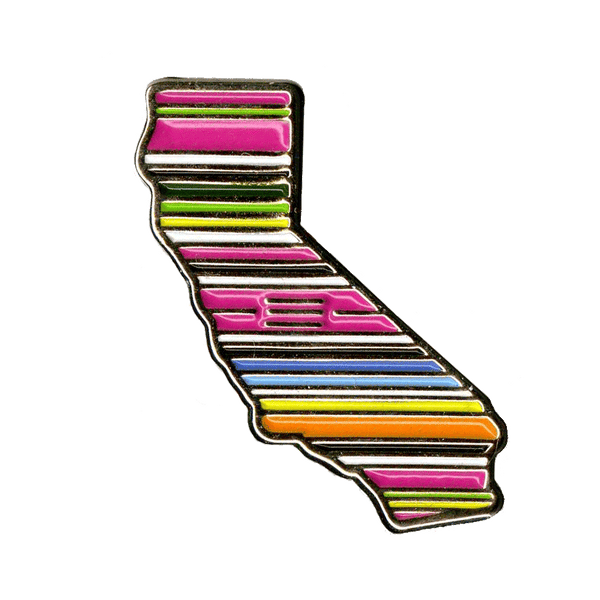 CALIFORNIA SERAPE LAPEL PIN