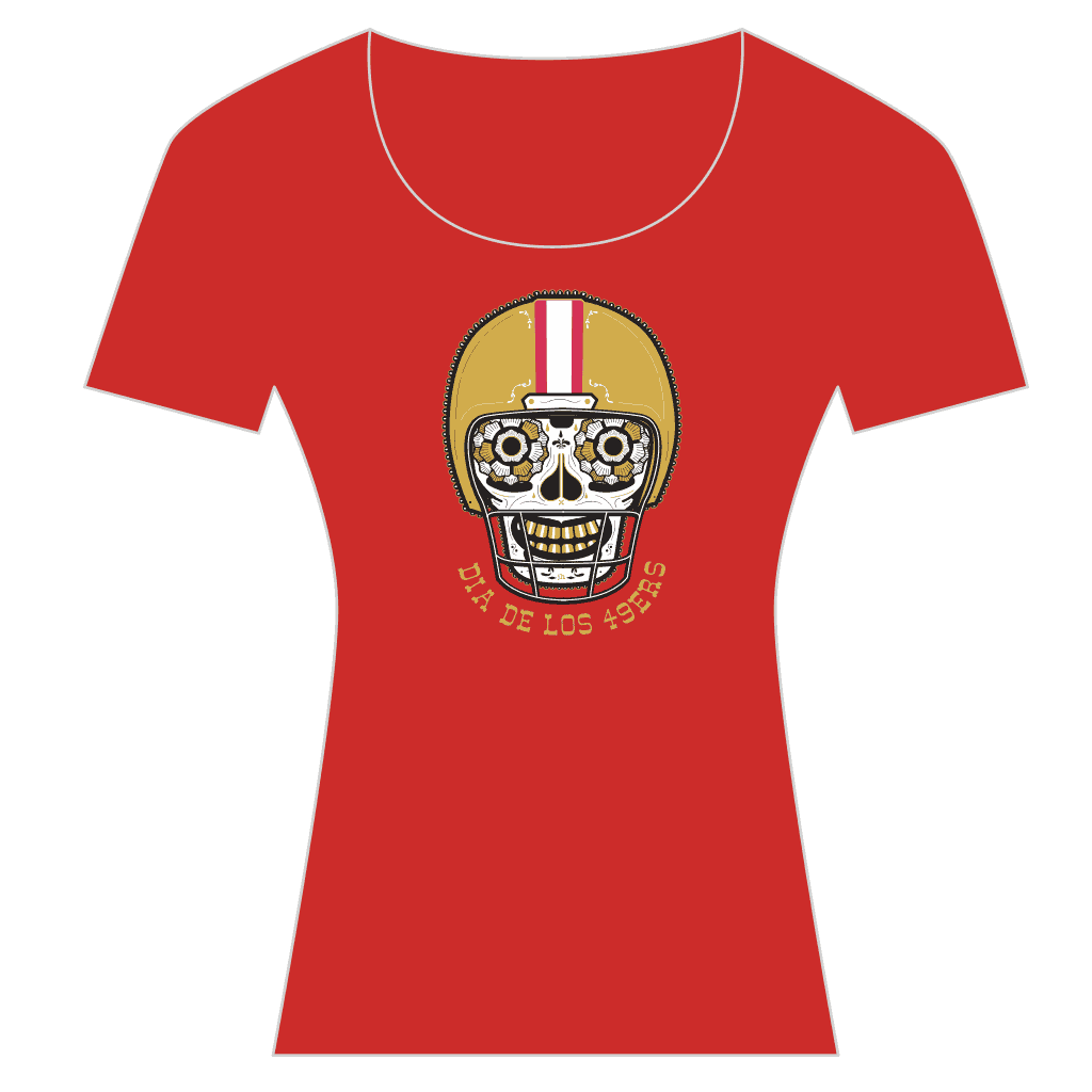 9ers Women's Scoop Tee - Red