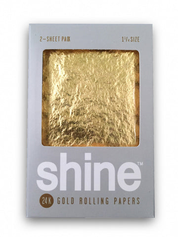 Shine - Gold Rolling Papers 2 Sheet Pack - Zilla