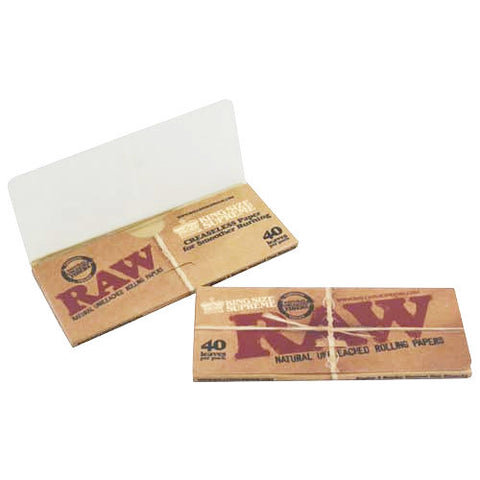 RAW King Size Supreme Rolling Papers - Zilla