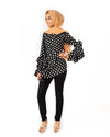 Aria Modest Ruffle Top - Polka Dot - Verona Collection