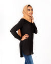Lilana Modest Top - Black - Verona Collection