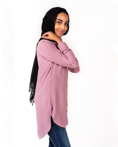 Lilana Modest Top - Dusty Rose - Verona Collection
