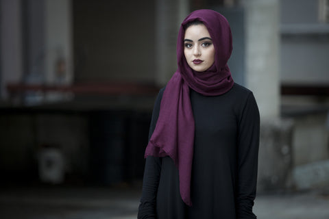 Basic Viscose Hijab - Deep Cherry - Verona Collection