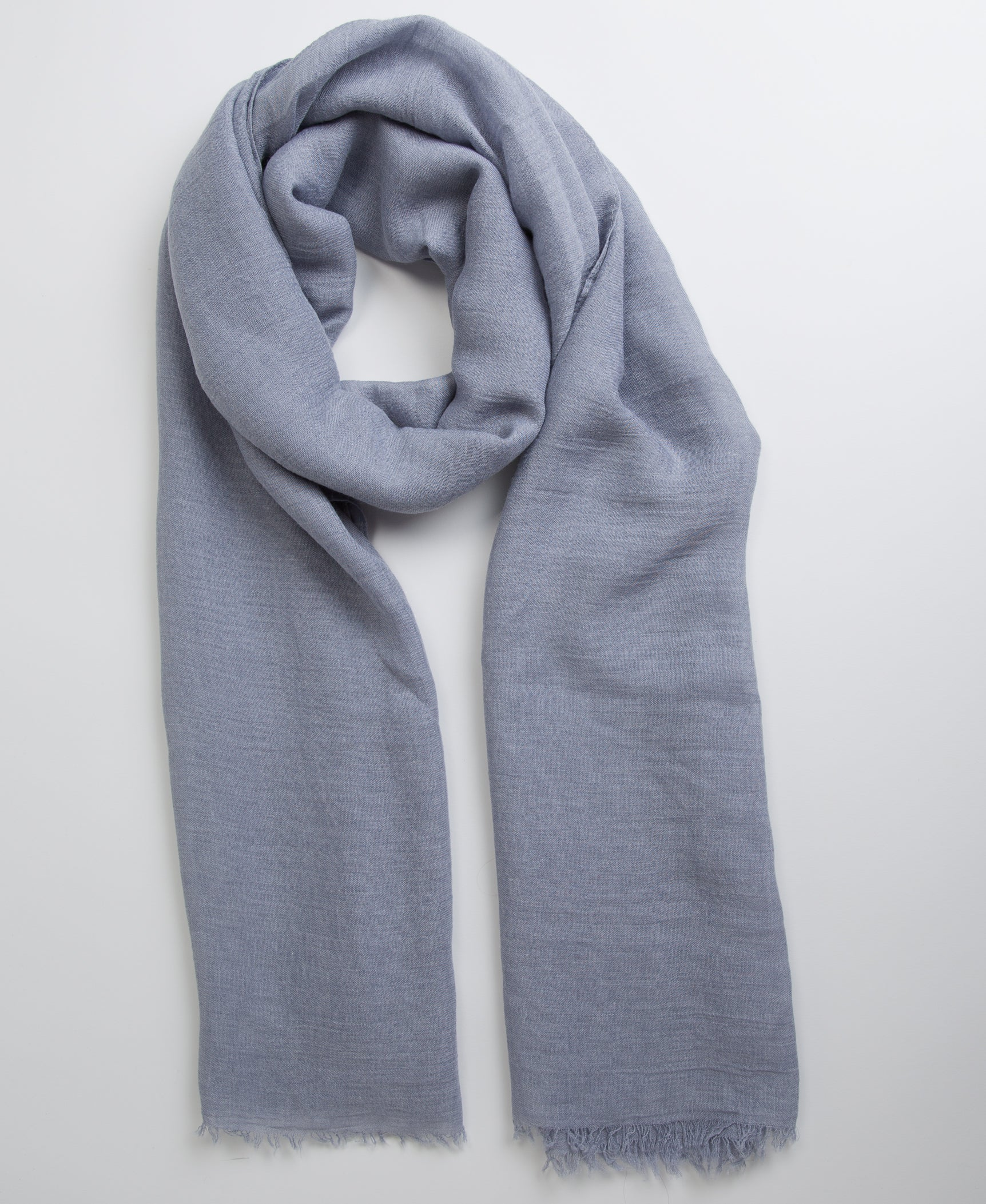 Hand Dyed Viscose Hijab - Blue Grey