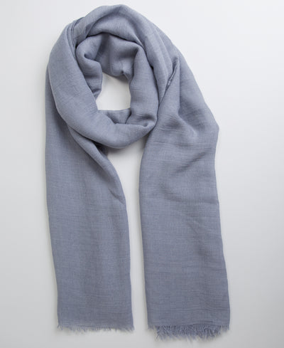 Hand Dyed Viscose Hijab - Blue Grey - Verona Collection
