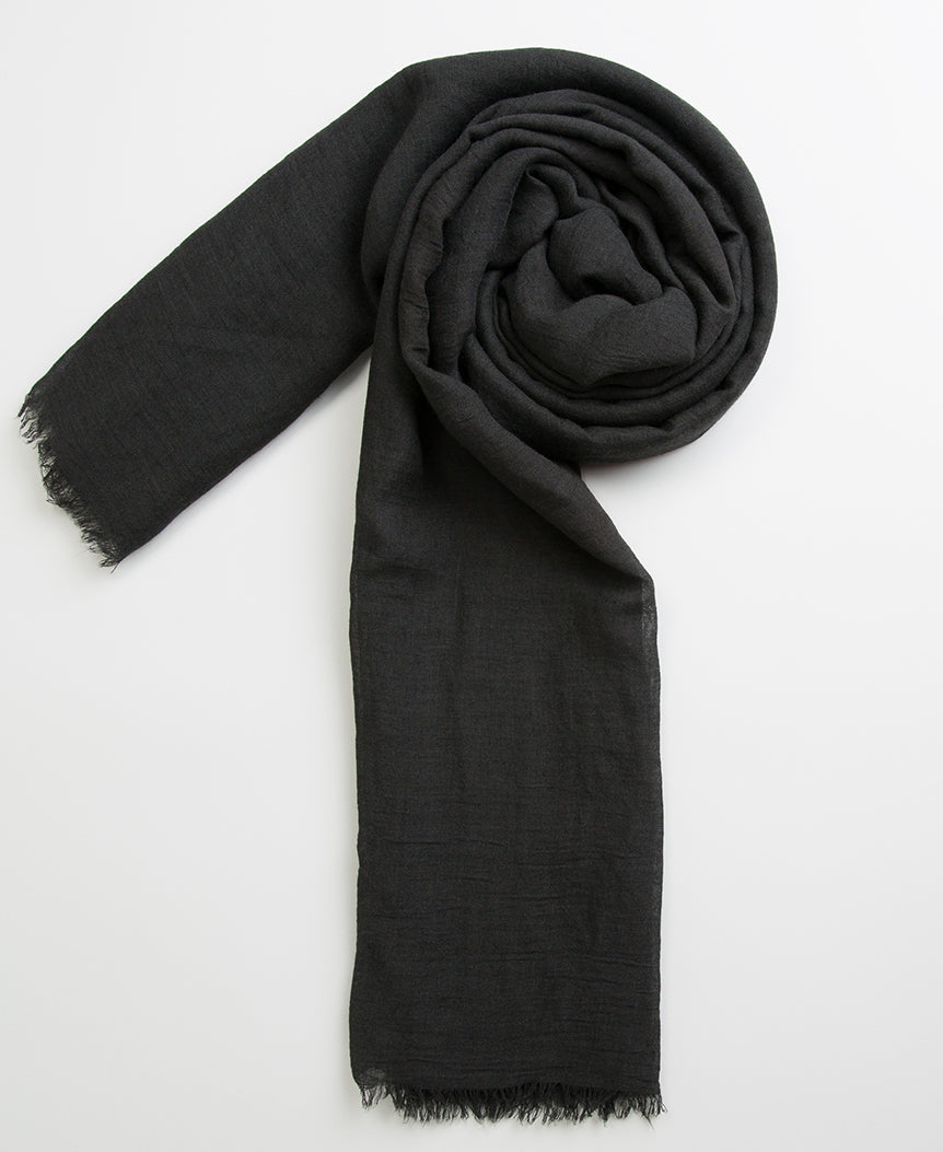 Hand Dyed Viscose Hijab - Black