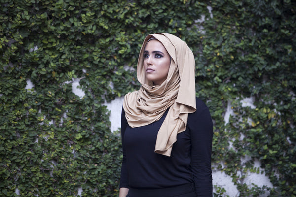 Luxury Modal Jersey Hijab - Camel - Verona Collection