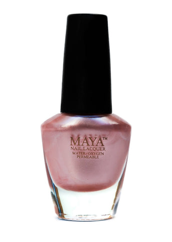Maya Halal Breathable Nailpolish - Petallic Tea Pink