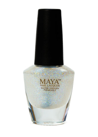 Maya Halal Breathable Nailpolish - Top Coat - Glitter
