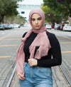 Viscose Cotton Crinkle Hijab - Dusty Rose - Verona Collection