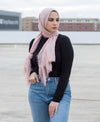 Viscose Cotton Crinkle Hijab - Light Pink - Verona Collection