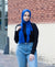 Viscose Cotton Crinkle Hijab - Royal Blue