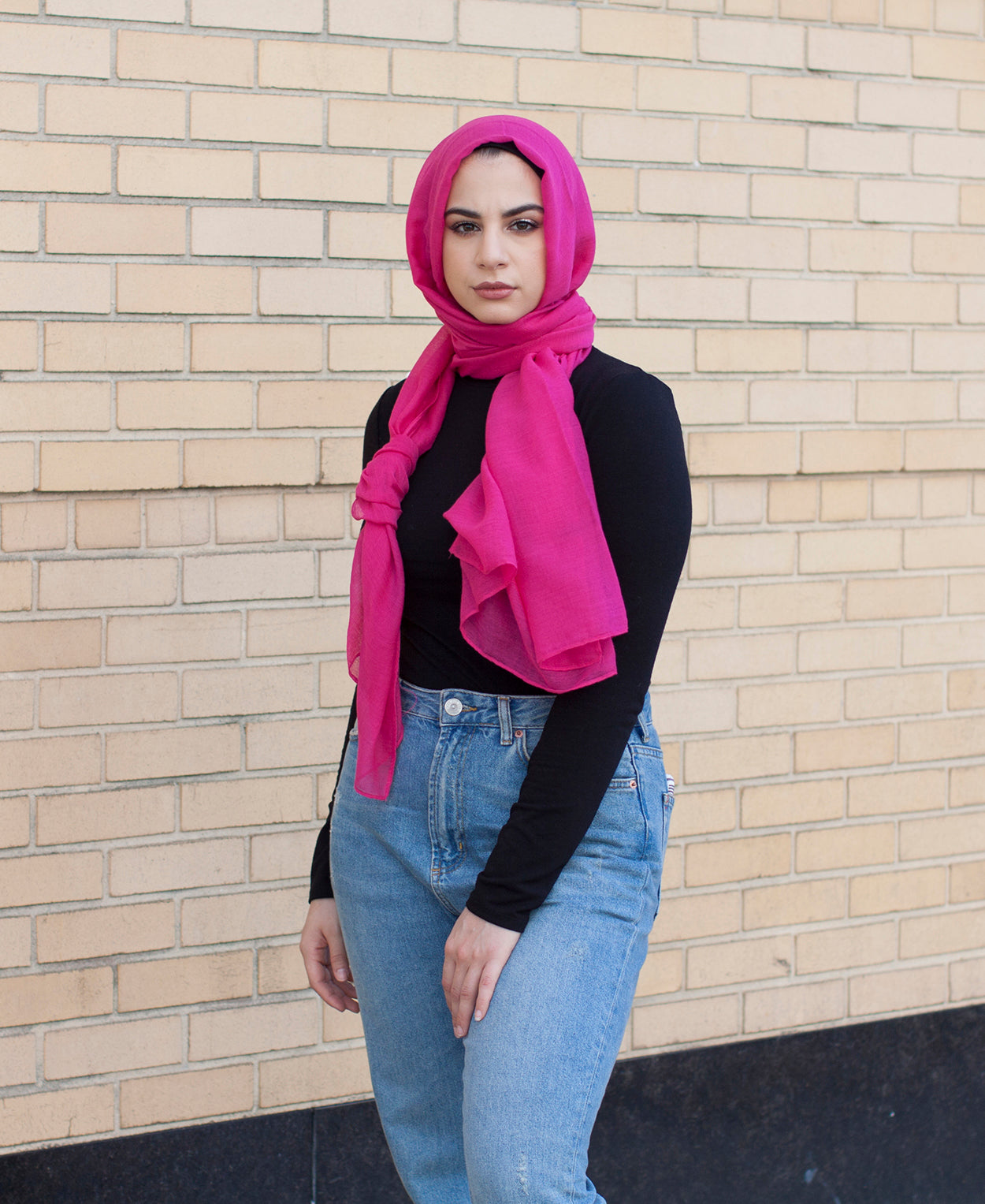 Viscose Hijab - Hot Pink