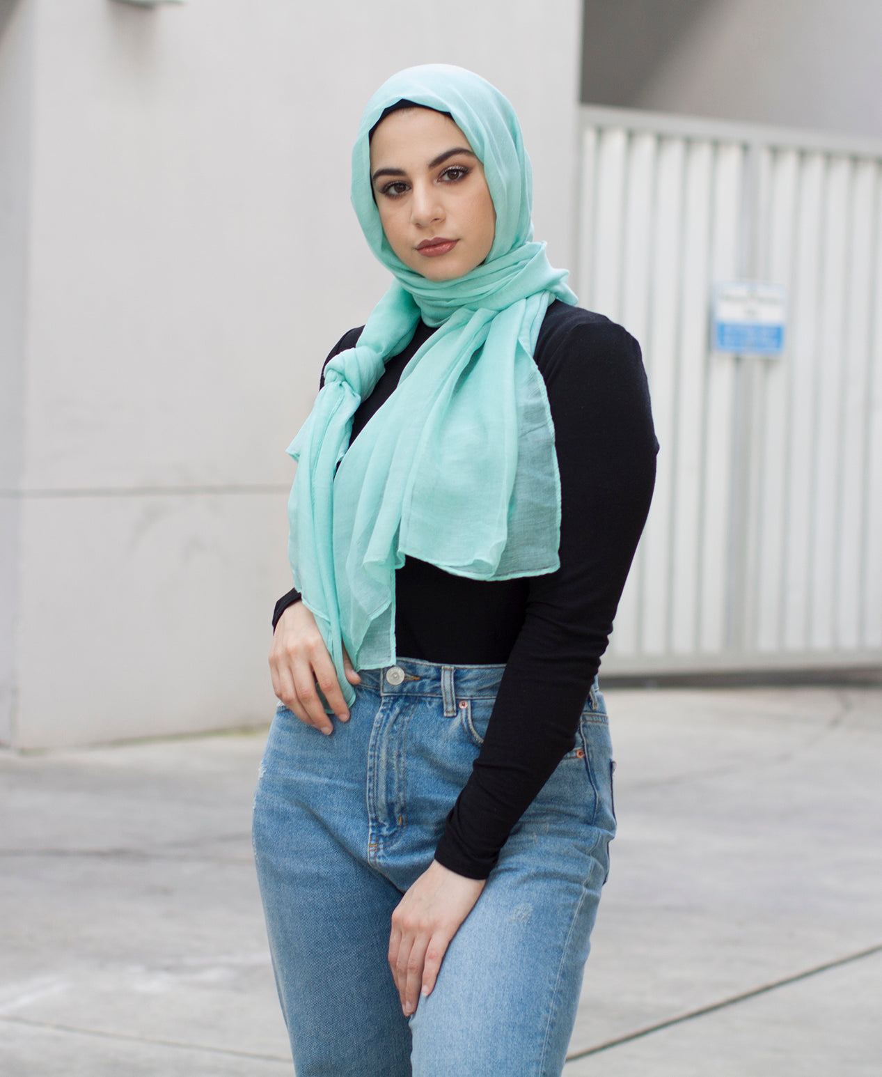 Viscose Hijab - Mint