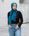 Viscose Hijab - Teal - Verona Collection