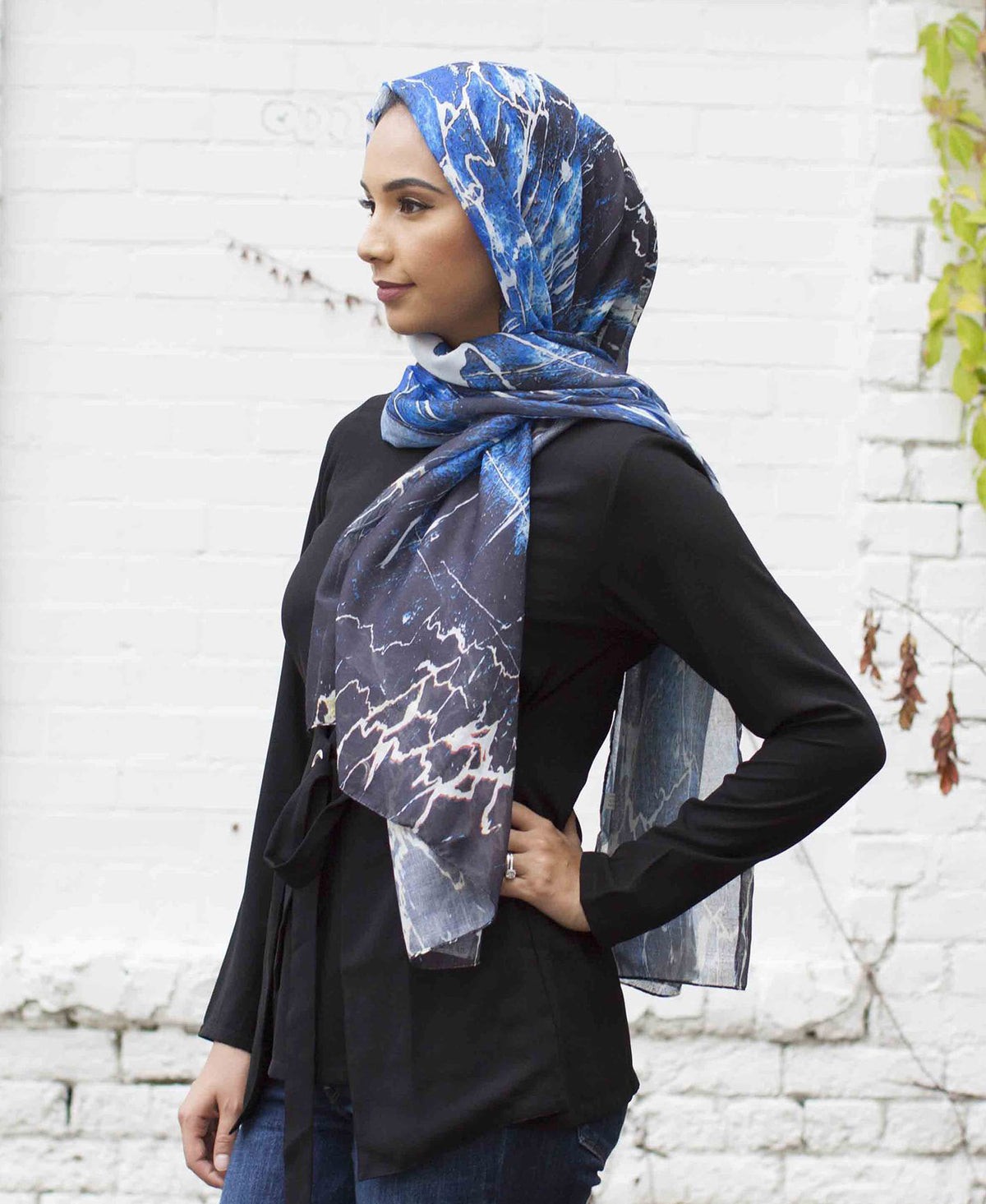Anna Viscose Printed Hijab - Verona Collection