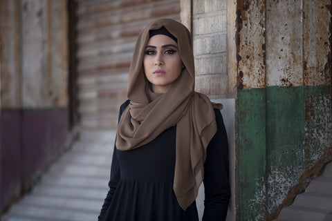 Chiffon Maxi Hijab - Macchiato - Verona Collection
